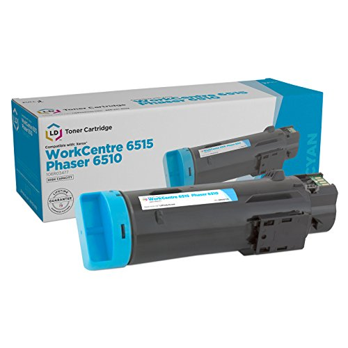 LD Compatible Toner Cartridge Replacement for Xerox Phaser 6510 & WorkCentre 6515 High Yield - Laser Phaser Cyan Toner