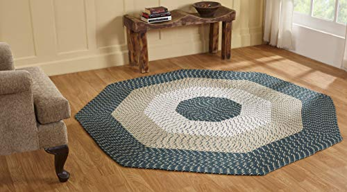 Better Trends / Pan Overseas Country Braided Rug 4 Octagon Hunter Stripe