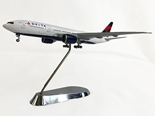 delta-air-lines-boeing-777-200lr-diecast-airplane-model-n706dn-with-chrome-stand-1400-scale-part-gjd