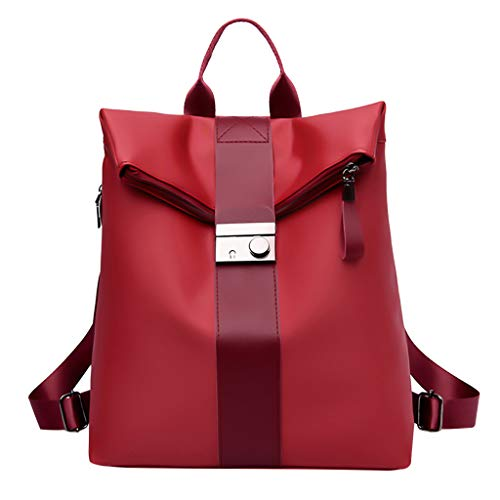 DDKK Backpack Women Multi-Function Rucksack Faux Leather Anti-Theft Purse-Water Resistant Travel Laptop Fashion Large Capacity Shoulders Bag