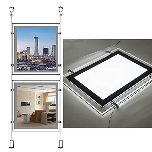 A2 Portrait Led Acrylic Backlit Poster Frame Light Box Sign Holder (2pcs A2 a raw, Vertically)