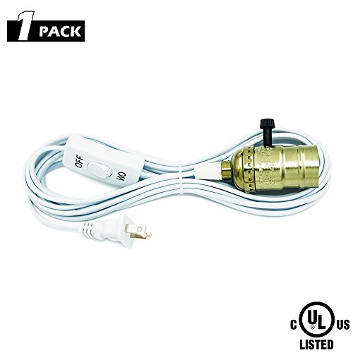 Make Hanging Light (CREATE BRIGHT 1-Pack of Extension Hanging Lantern Cord Cable 15Ft with E26/E27 Socket,UL Listed On/Off Button 2-Prong AC Power Plugs Pendant lighting bulbs for Living Room,Kitchen and Plant Grow Light)