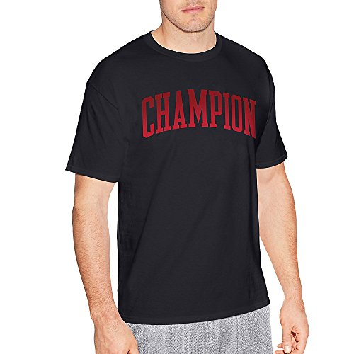 Champion Men's Classic Jersey Graphic T-Shirt, Black/Tall Arch, X Large