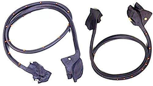 (APDTY 140217 Rubber Weatherstrip Door Seal Set Fits Left & Right Door 1970-1981 Chevrolet Camaro or Pontiac Firebird F-Body (Includes Driver & Passenger-Side; Replaces General Motors 9868430, 9868431))