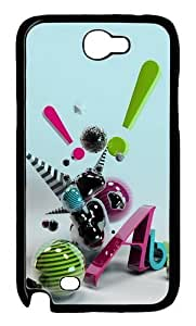 3D Abstract Art Polycarbonate Hard Case Cover for Samsung Galaxy Note 2/ Note II/ N7100 Black
