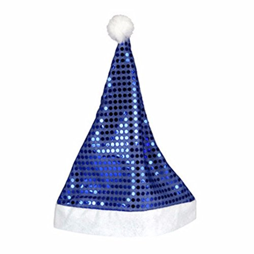 Inverlee New Christmas Holiday Santa Claus Cap Stars Xmas Party Home Decoration (Blue) ()