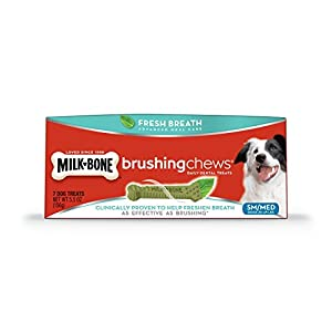Milk-Bone Brushing Chews Fresh Breath Daily Dental Treats - Small/Medium, 5.5 oz - 7 Bones, 1 Count