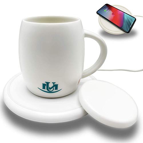 UniqueMax Coffee Mug Warmer, Warmer Mugs,14 oz, Wireless Charging, Cup Warmer, Temperature Mug for Office and Home Use…