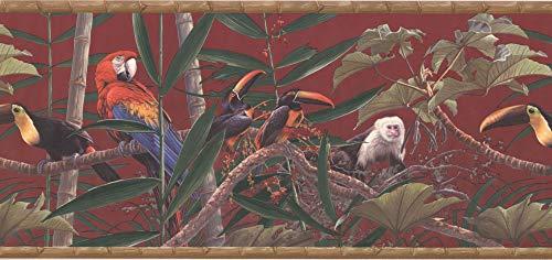 Birds and Monkey Wallpaper Border HG534B
