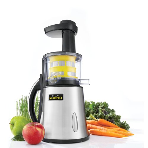 BELLA 13695 NutriPro Cold Press Juicer, Stainless Steel