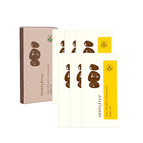 Innisfree Korean Cosmetics, , Jeju Volcanic Nose Pack, 6Pcs