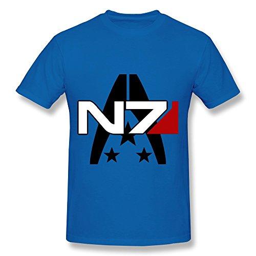 MINGRUI Men's Mass Effect Alliance N7 Special Forces Insignia T-shirt S RoyalBlue
