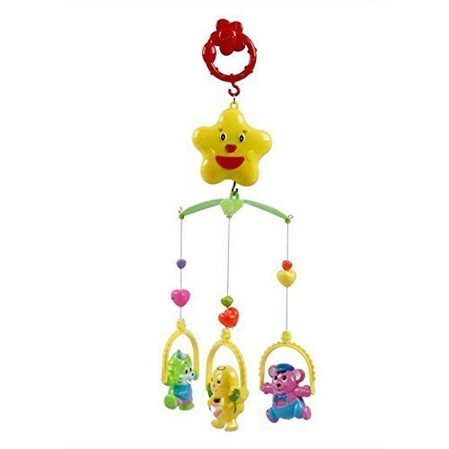 Sajani 5 Pcs Lovely Colourful Musical Hanging Rattle Toys with Hanging for Babies (Multi Color)