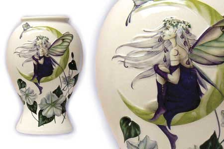 Jessica Galbreth Fairy Moon Flower Porcelain Vase Large