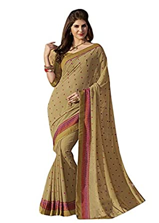 d88272ddac Laxmipati Georgette Saree With Blouse Piece (4591_Multicolor_Free Size):  Amazon.in: Clothing & Accessories