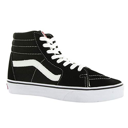 (Vans Unisex Sk8-Hi Black/Black/White Skate Shoe 5.5 Men US / 7 Women)