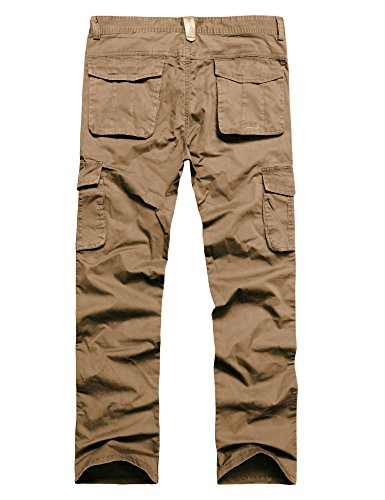LOHASCASA Men's Big and Tall Cleaning Cargo Pants - Back