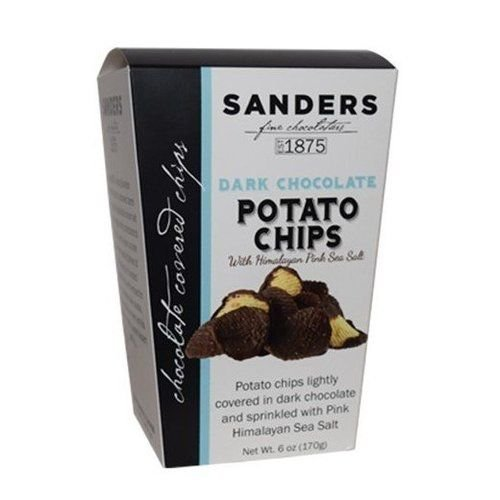 Sanders Dark Chocolate Covered Potato Chips with Pink Himalayan Sea Salt