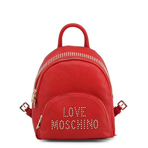Black Handbag Love Backpack Grain Pu Borsa Moschino Women��s YRq07