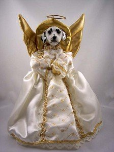Amazon Com Conversation Concepts Dalmatian Angel Tree Topper  - Christmas Tree Angel Toppers