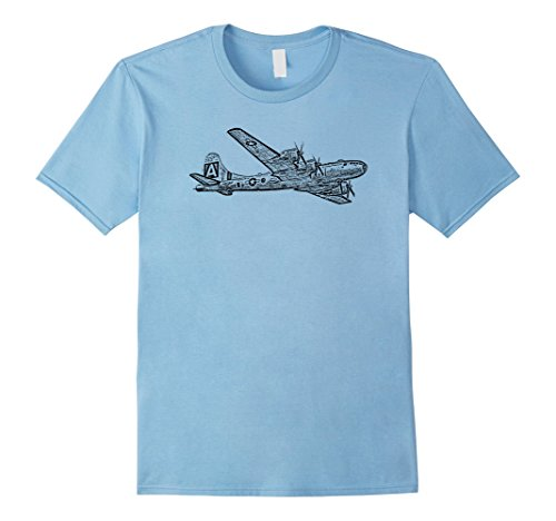 Mens B-29 Bomber Airplane Fighter Plane Graphic T-shirt L...