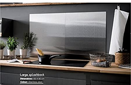 Large Stainless Steel Kitchen Cooker Splashback Cover Magnetic Memo Board  Office