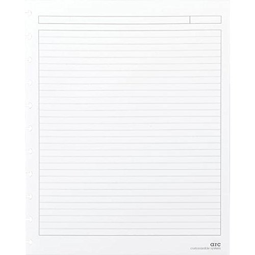 M by StaplesArc System Reinforced Narrow Ruled Premium Refill Paper, White, 8-1/2'' x 11''