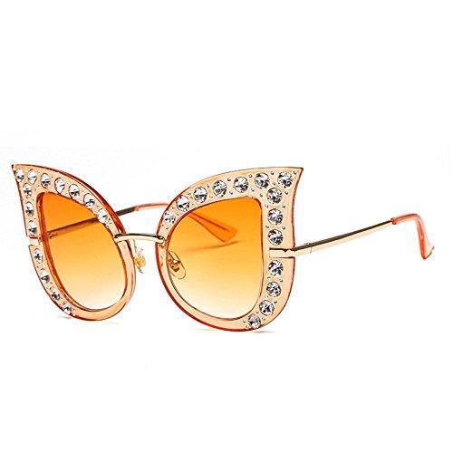 Ojo I Visera Y Moda De De RinV Gafas Europea Grande Americana F Gato Sol Sol Sra De Gafas Beat Street Caja Diamante Playa f4wXq
