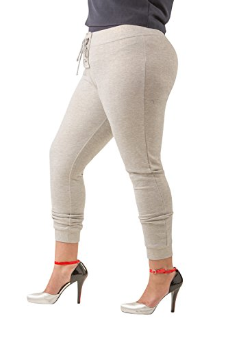 Poetic Justice Curvy Women's Plus Size Grey French Terry Gold Foil Jogger Pant Size 2X