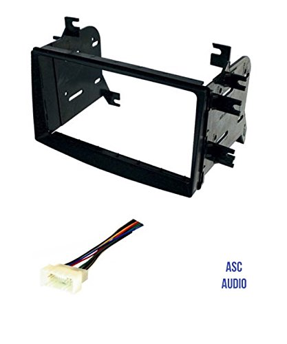 ASC Car Stereo Radio Install Dash Kit and Wire Harness for installing an Aftermarket Double Din Radio for some Hyundai Kia - Compatible Vehicles Listed Below