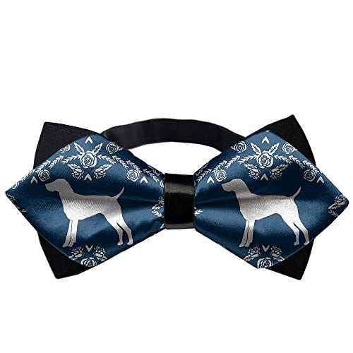 YEAHSPACE Mens Silk Bowtie Gift Pointer Dog Bow Ties ()
