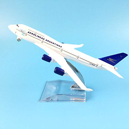 Greensun 16CM Airlines Boeing 747 AEROLINEAS ARGENTINAS Aircraft Model Model Plane Simulation 16 Alloy Christmas Toys Gift Kids