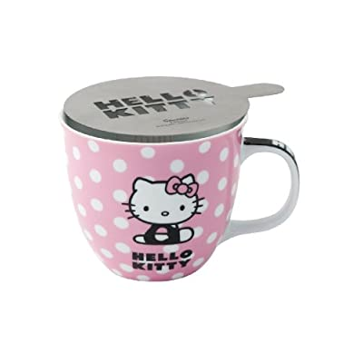 Image of Hello Kitty Mug - Cappucino Stencil Gift Set Coffee Cups & Mugs