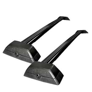 hummer h3 h3t black top roof rack rail bars w. Black Bedroom Furniture Sets. Home Design Ideas