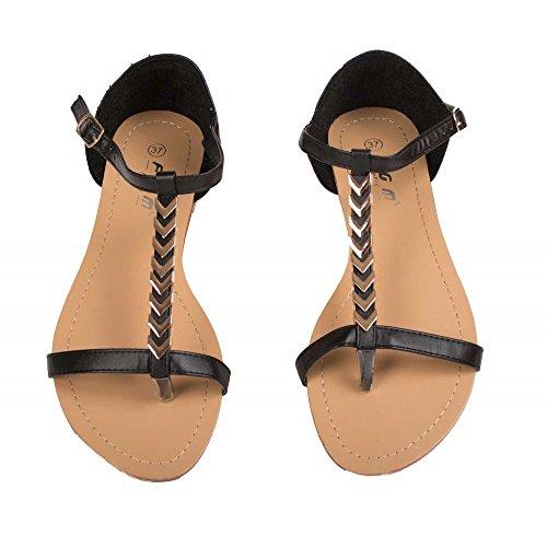 Sandales à brides fantaisies V dorées T40