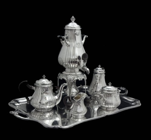 Piece Sterling Tea Service (The Great Gatsby - Another Spectacular Find, A Stunning, Original Art Deco, Privately Commissioned 4 Piece Sterling Silver Tea Service by