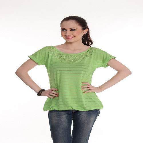 Lefashionelle Solid Women Round Neck T Shirt