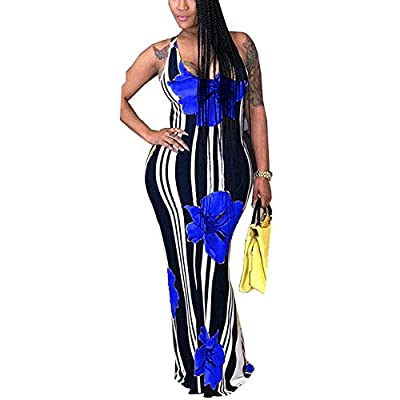 Womens Mermaid Long Maxi Dress - Off The Shoulder Triple Color Block Bodycon Dress at Women's Clothing store