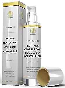 NeuCeutica Retinol Hyaluronic Acid Moisturizer Cream: Collagen, Vitamin C, 4 Ounce