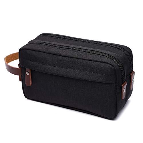 AMJ Travel Toiletry Bag for Men & Women Travel Dopp Kit Shaving Bag Toiletry Organizer, Black