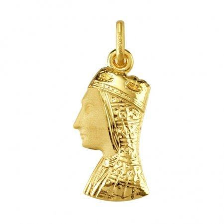 VIERGE MONTSERRAT - Médaille Religieuse - Or 18 carat - Hauteur: 22 mm - www.diamants-perles.com