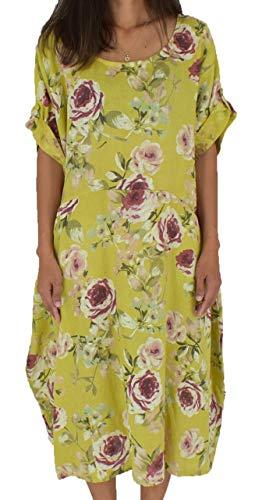 Design Lagenlook Mein de Damen Kleid Mallorca Hellgrün LH100 6AdpnHB