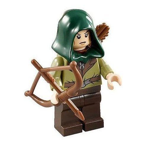 LEGO Minifigure - The Hobbit - MIRKWOOD ELF GUARD with Cowl & Bow (Light Green)