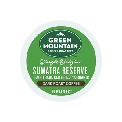 Sumatra K-cups - Green Mountain Coffee Roasters Sumatran Reserve Keurig Single-Serve K-Cup Pods, Dark Roast Coffee, 72 Count (6 Boxes of 12 Pods)