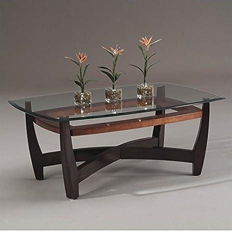 Amazoncom Bassett Mirror Elation Rectangular Cocktail Table in