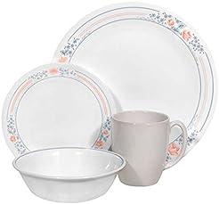Corelle Livingware 16 piece Dinnerware Set Service for 4 Apricot Grove  sc 1 st  Amazon.com & Amazon.com: Holiday - Dinnerware Sets / Dining u0026 Entertaining: Home ...