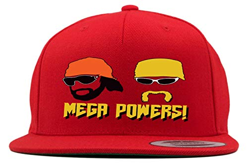 RED Snapback Hogan Macho Man Mega Powers Hat -