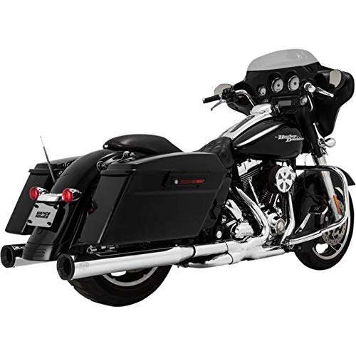 400 Exhaust (Vance & Hines Eliminator 400 Slip Ons Chrome with Black End Cap 16706)
