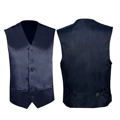 Mariage Slim Veste Vintage Fenteer Homme Gilet Gris Fit Business Sans Casual Costume Manches yHPqT