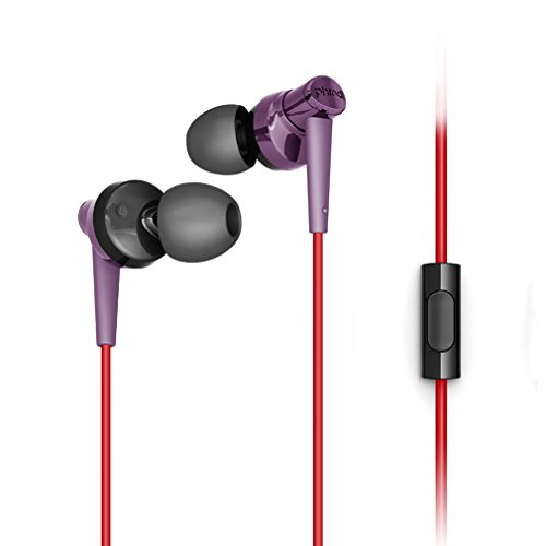 Granvela Pod007 Hi Definition Earbuds With Microphone  Noise Isolating And Bass Enhanced Earphones With Microphone For Smartphones   Purple